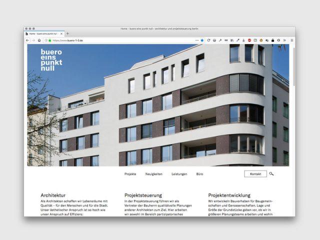 Büro eins punkt null ArchitekturGestaltung: anschlaege.de