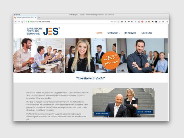 Jes – Seminare für AnwälteGestaltung: werbemanufaktur.net