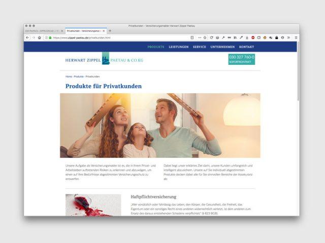Zippel Paetau VersicherungenGestaltung: werbemanufaktur.net